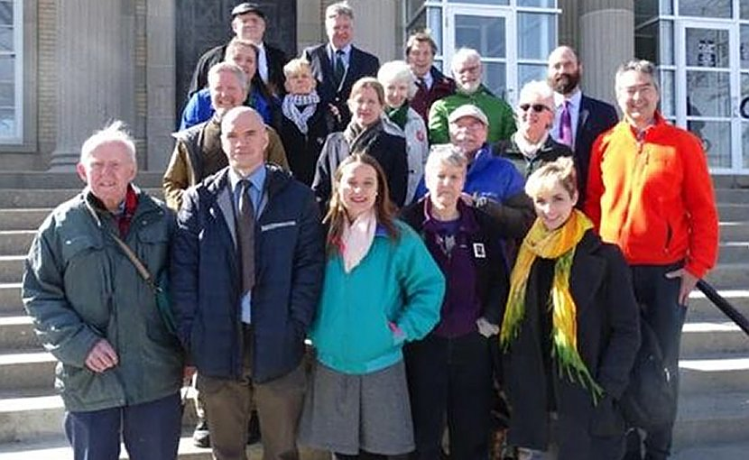 Roxbury climate necessity defendants. Photo by Peter Bowden