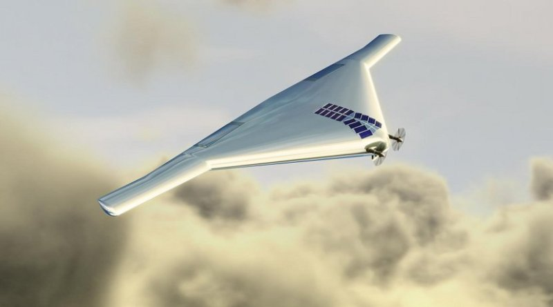 This is a a Venus Atmospheric Maneuverable Platform, or VAMP. The aircraft, which would fly like a plane and float like a blimp, could help explore the atmosphere of Venus, which has temperature and pressure conditions that do not preclude the possibility of microbial life. Credit Northrop Grumman Corp.
