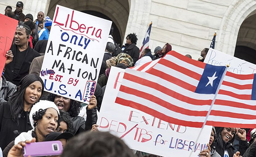 Liberians protesting in US. Photo Credit: frontpageafricaonline.com