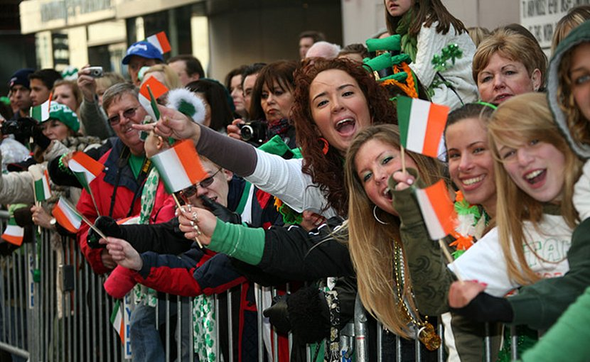 Onlookers during the New York City St. Patrick's Day parade. Photo Credit: DoD, Wikimedia Commons.