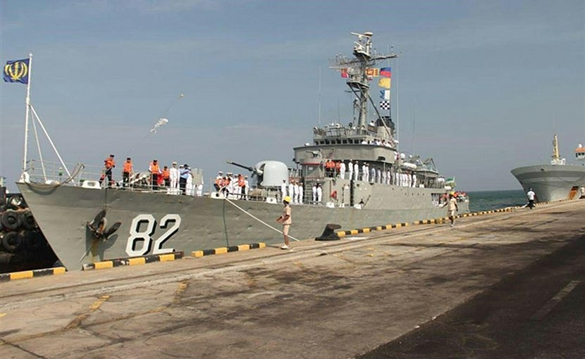 Iranian naval fleet docks at Indian port of Mumbai. Photo Credit: Tasnim News Agency.