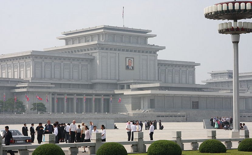 Kumsusan Memorial Palace, Pyongyang, North Korea. Photo by Mark Scott Johnson, Wikimedia Commons.