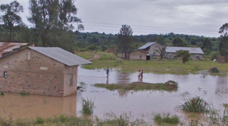 Flooding in Uganda during the rainy season. Credit Steven J. Schiff, Penn State