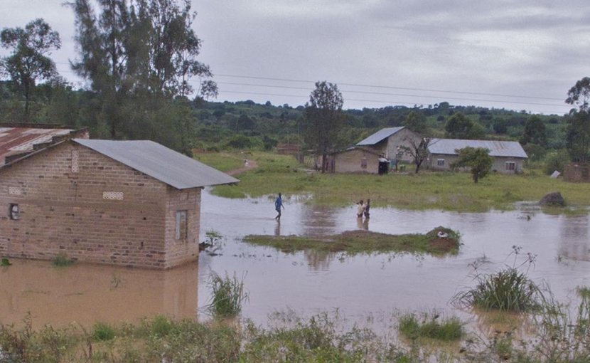 Flooding in Uganda during the rainy season. Credit Steven J. Schiff, Penn State