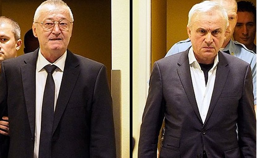 Former Serbian state security officials Jovica Stanisic and Franko Simatovic. Photo: MICT.