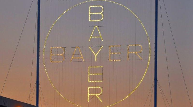 Bayer cross in Leverkusen. Photo by H005, Wikipedia Commons.