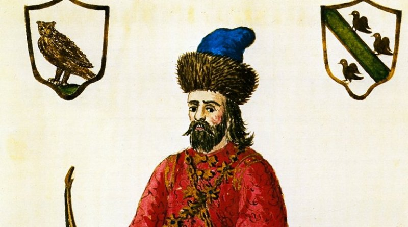 Polo wearing a Tatar outfit, date of print unknown. Source: Wikipedia Commons.