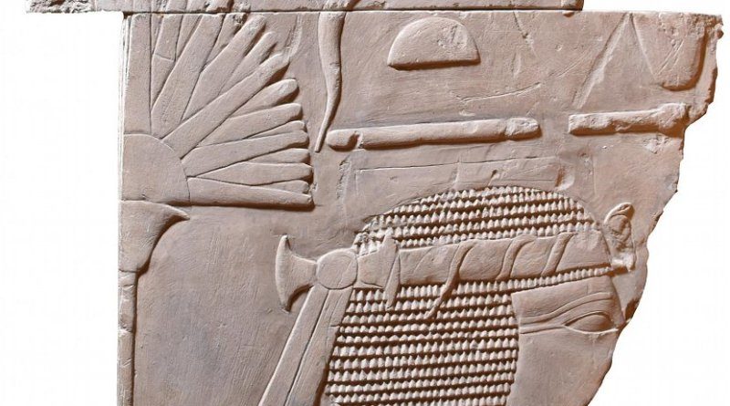 This is the front aspect of the artifact. Credit The Egypt Centre, Swansea University