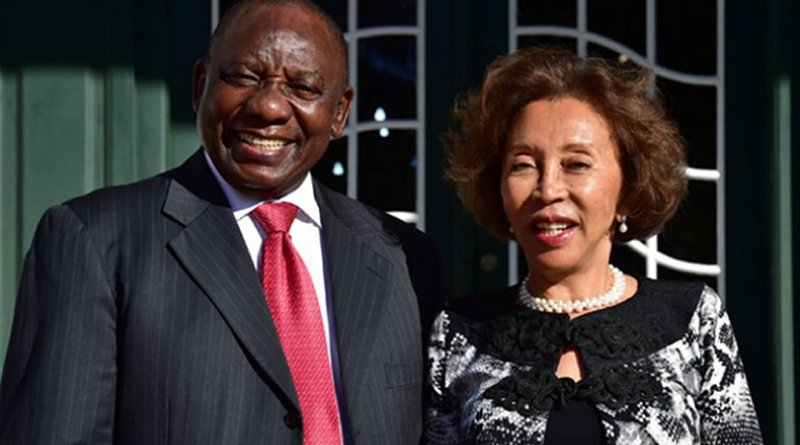 South Africa's President Cyril Ramaphosa and his wife Dr. Tshepo Motsepe. Photo Credit: SA News.