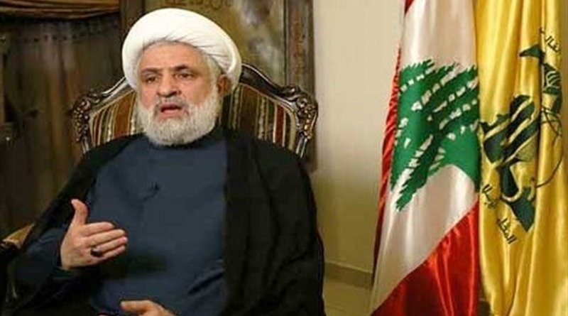 Lebanese Hezbollah Resistance Movement's second-in-command, Sheikh Naim Qassem. Photo Credit: Tasnim News Agency.