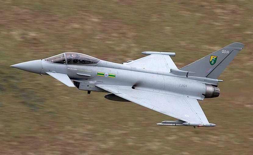 Royal Air Force Eurofighter. Photo by Chris Lofting, Wikipedia Commons.