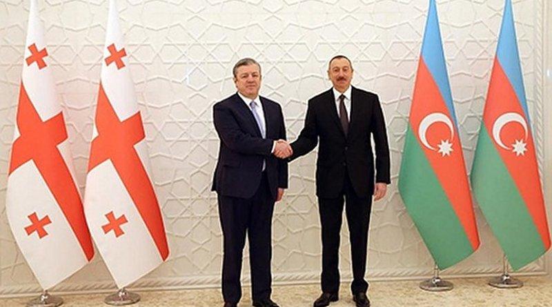Georgia's PM Giorgi Kvirikashvili and Azerbaijan's President Ilham Aliyev, March 12, 2018. Photo: gov.ge