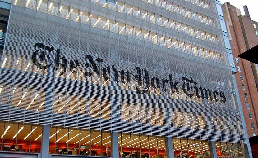 New York Times headquarters. Photo by Haxorjoe, Wikimedia Commons.