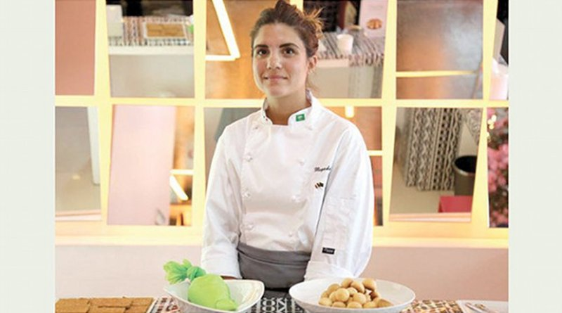 Pastry chef Mayada Badr. Photo Credit: Arab News.