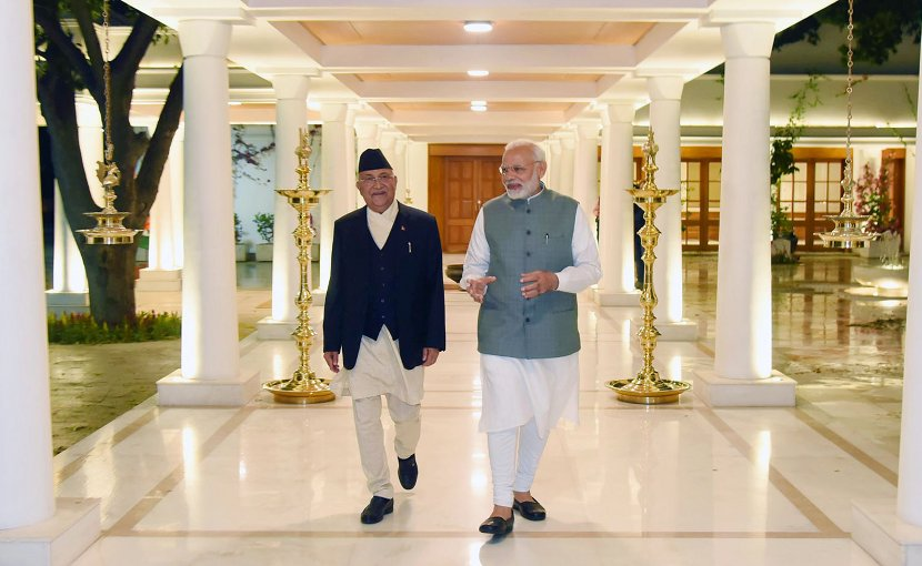 The Prime Minister of Nepal, Mr. K.P. Sharma Oli calls on India's Prime Minister, Shri Narendra Modi, in New Delhi. Photo Credit: India PM Office.