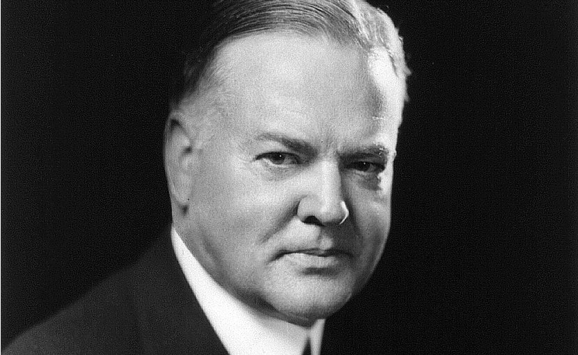 US President Herbert Hoover portrait. Source: Library of Congress, Wikipedia Commons.