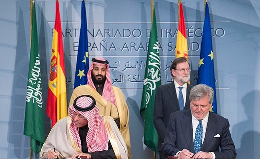 Saudi Arabia and Spain signed six agreements to establish military, air transport and technical cooperation between the two countries. (SPA)