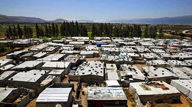 """A Syrian refugee encampment in Lebanon's Bekaa Valley. Increasingly Syrians who fled the carnage in their country next door are under pressure to return to Syria despite grave dangers from a variety of sources if they do. According to the U.N.'s refugee agency, UNHCR, 1,300 Syrian families were evicted from their settlements in the Bekaa Valley in 2017. It said close to sixty percent of the evictions were ordered by Lebanese military intelligence while another 30 percent were ordered by local officials. All of these forced evictions violate international laws relating to Non-refoulement as defined in the UN's 1951 Refugee Convention: No refugee shall be returned to any country where he or she is likely to face persecution or torture."""" Photo: Maher Salloum"""
