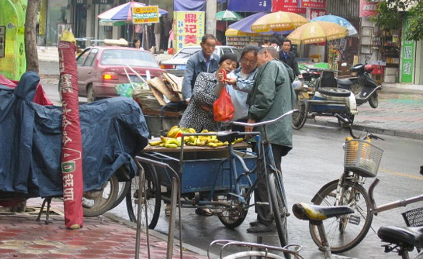 Street vendor in China.