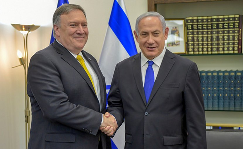 U.S. Secretary of State Mike Pompeo meets with Benjamin Netanyahu, the Prime Minister of Israel. Photo Credit: US State Department.