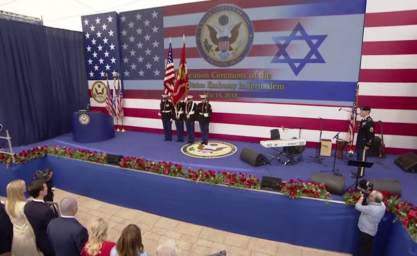 Dedication Ceremony for US Embassy in Jerusalem on May 14, 2018. Source: US State Dept video screenshot.