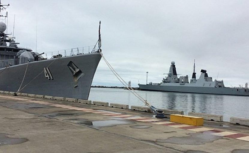 SNMG2 is conducting a port visit in Poti, Georgia, May 14, 2018. Photo: twitter.com/NATO_MARCOM