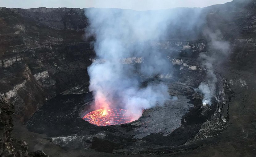 Nyiragongo crater lava lake, Democratic Republic of Congo. Credit Julien Barriere