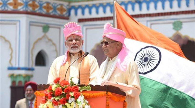 The Prime Minister, Shri Narendra Modi with the Prime Minister of Nepal, Shri K.P. Sharma Oli, at Janakpur, Nepal. Photo Credit: India PM Office.