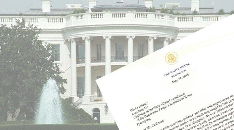 White House President Trump Letter To North Korea Kim