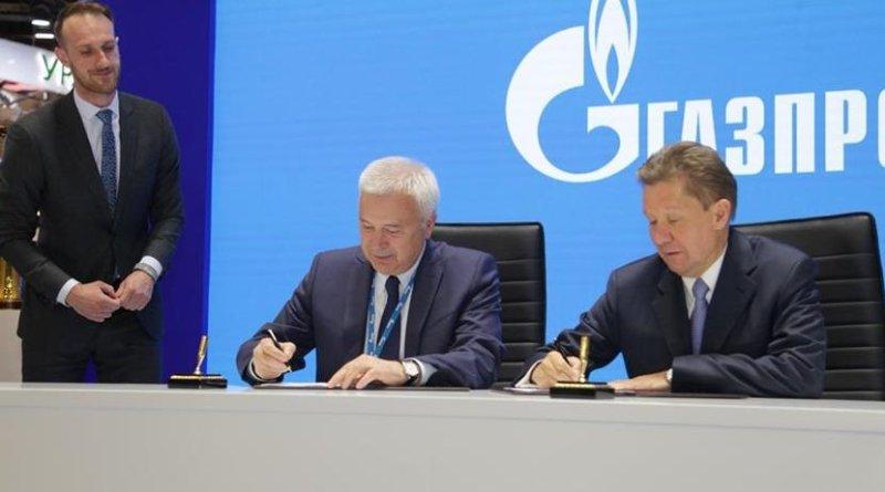 LUKOIL President Vagit Alekperov and Gazprom Chairman Alexey Miller. Photo Credit: Lukoil