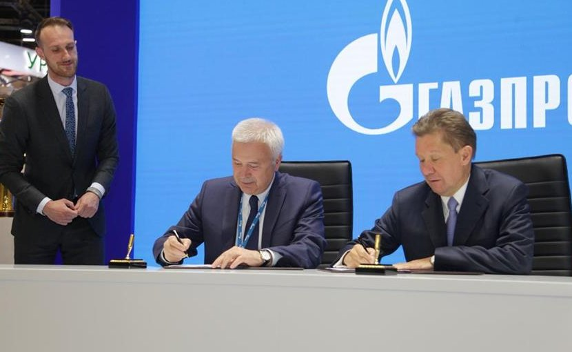 LUKOIL President Vagit Alekperov and Gazprom Chairman Alexey Miller. Photo Credit: Lukoil