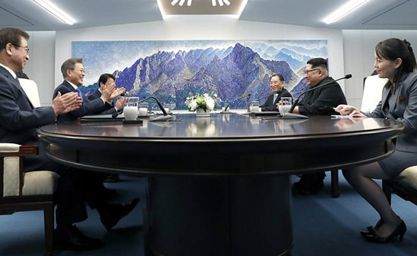 2018 Inter-Korean Summit with South Korea's President Moon Jae-in and North Korea's Kim Jong-un.