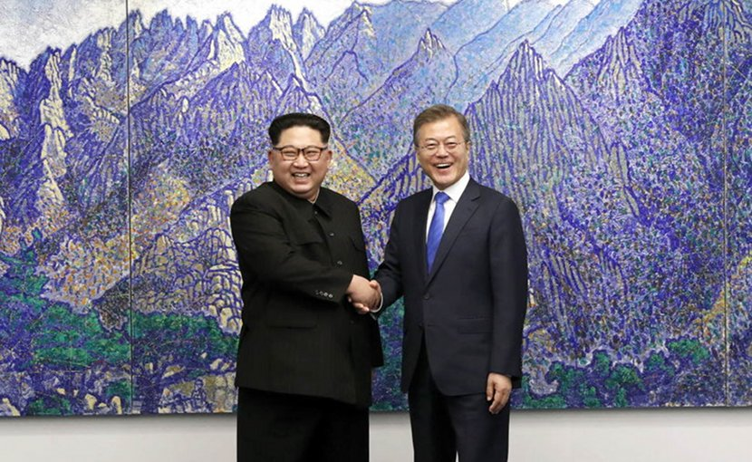 North Korea's Kim Jong-un and South Korea's Moon Jae-in. Source: Cheongwadae / Blue House