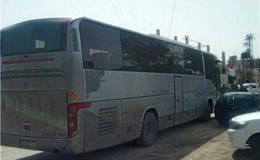 Militants leaving Damascus. Photo Credit: Tasnim News.