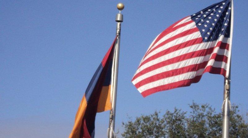 Flags of Armenia and United States. Photo Credit: Yerevanci, Wikimedia Commons.
