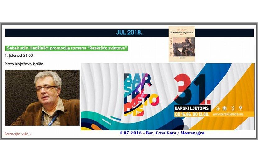Sabahudin Hadžialić To Participate In Montenegro's Festival Barski Ljetopsis