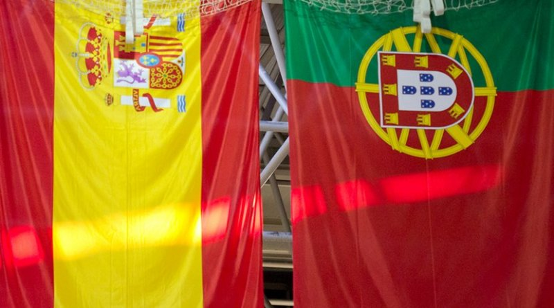 Flags of Spain and Portugal. Photo Credit: Carlos Delgado, Wikimedia Commons.