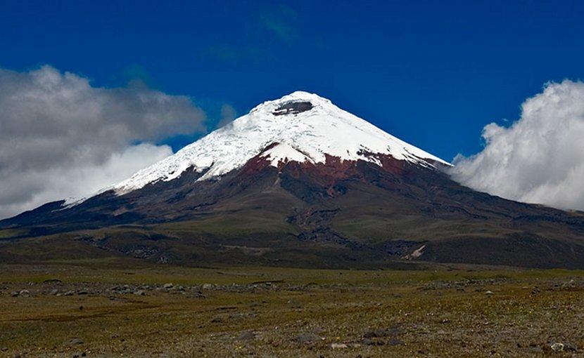 Cotopaxi volcano in Ecuador. Photo Credit: Gerard Prins, Wikipedia Commons.