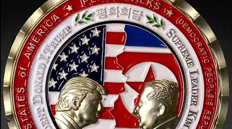 2018 Trump-Kim summit commemorative coin. Photo Credit: White House Communications Agency.