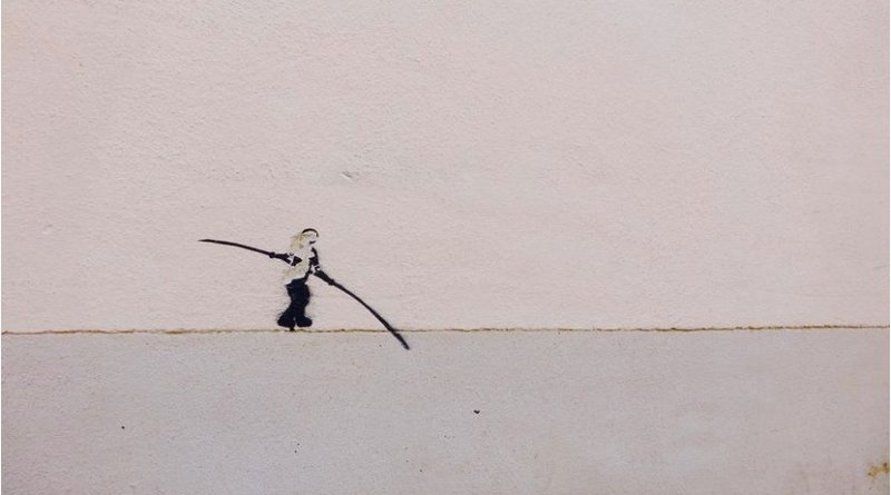 Walking a tightrope.