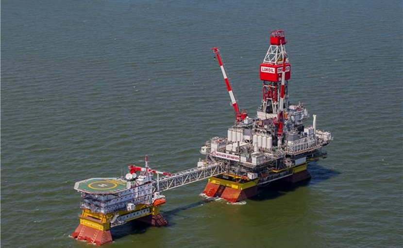 LUKOIL im Vladimir Filanovsky field in the Caspian Sea. Photo Credit: LUKOIL.