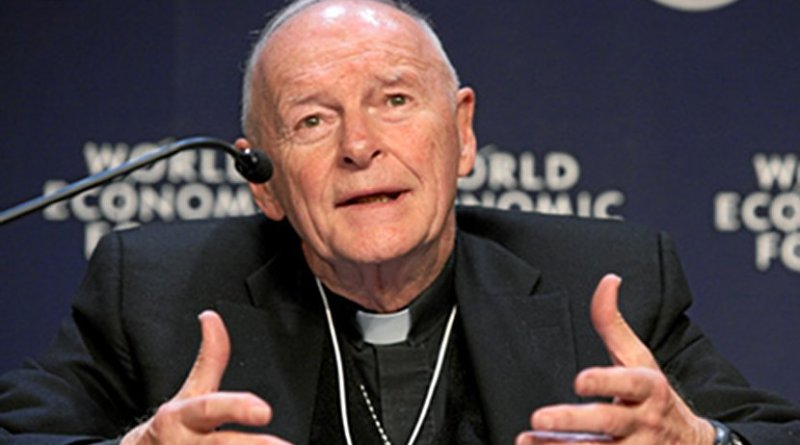 Cardinal Theodore McCarrick. Photo Credit: World Economic Forum, Wikimedia Commons.