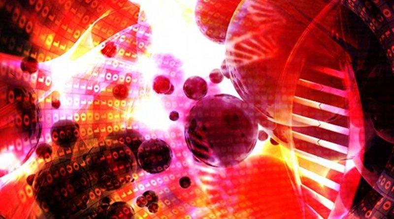 Artist's interpretation of multiple molecular layer analysis. Credit EMBL-EBI