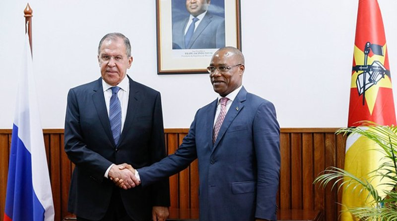 Russia's Foreign Minister Sergey Lavrov meets with Minister of Foreign Affairs and Cooperation of Mozambique Jose Pacheco.
