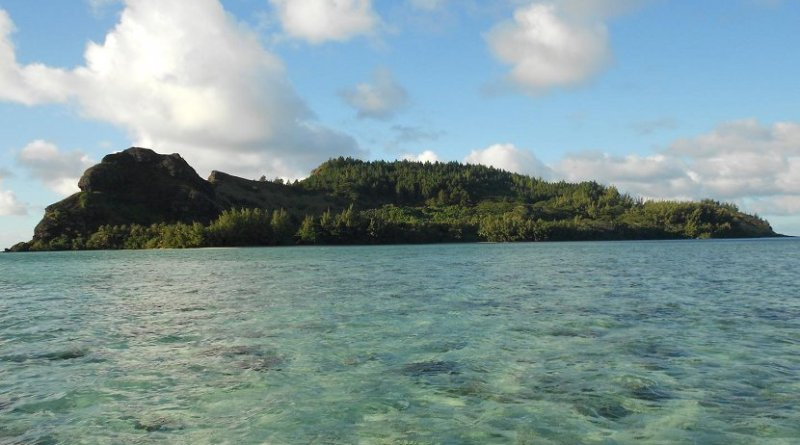 This is Agakauitai Island in the Gambier Archipelago (Mangareva). Credit Jillian A. Swift