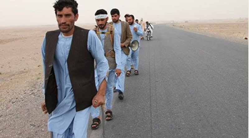 Afghan Peace March. Photo Credit: Mohammad Omar Lemar and VCNV