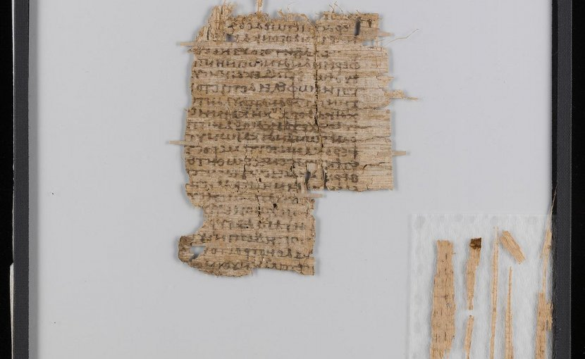 After conservation: cleaned, smoothed and consolidated. A specialized papyrus conservator was brought to Basel to make this 2,000-year-old document legible again. Credit University of Basel