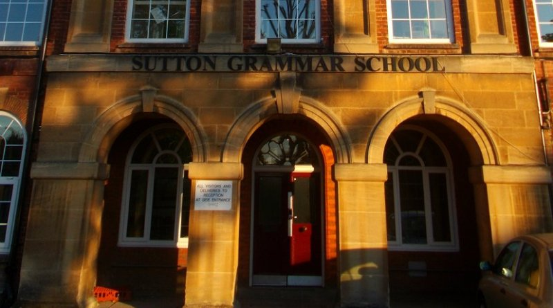 Sutton Grammar School in Sutton, London, United Kingdom. Photo Credit: A P Monblat, Wikipedia Commons.