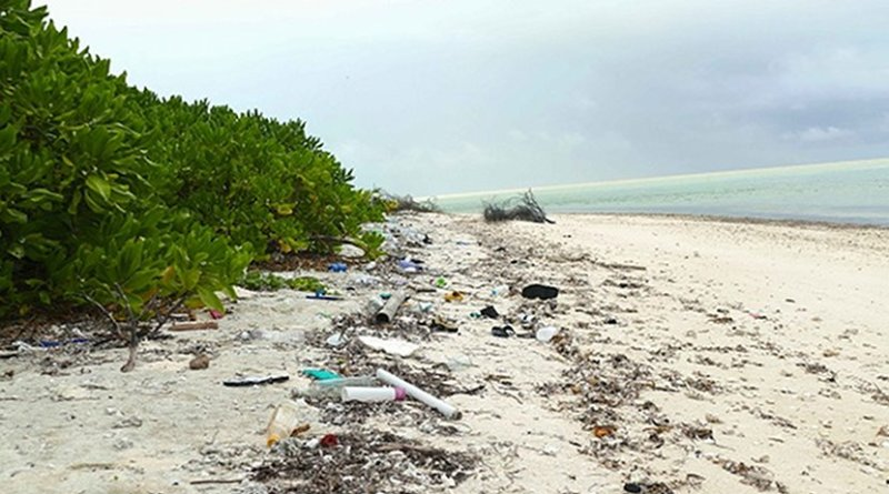 The Island Conservation Society has been actively attempting to reduce the impact of marine litter on the Alphonse Group for over 10 years. Photo Credit:Pep Nogués, Seychelles News Agency.