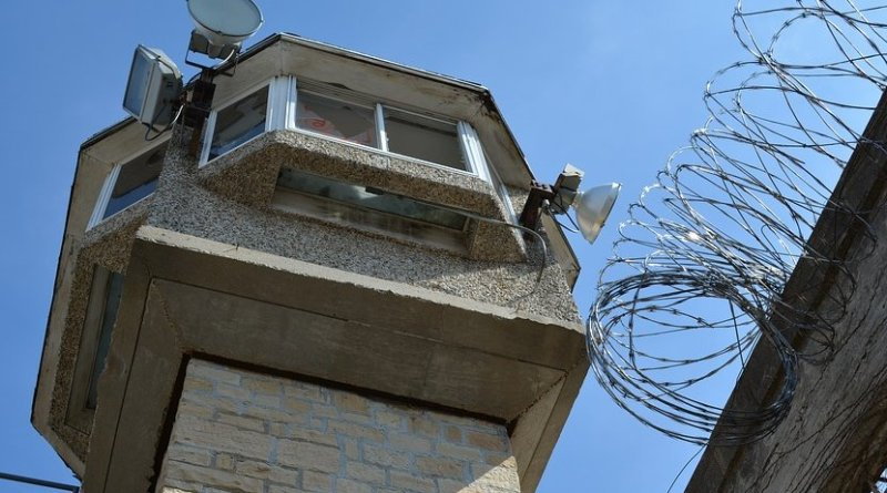 Prison guard tower.